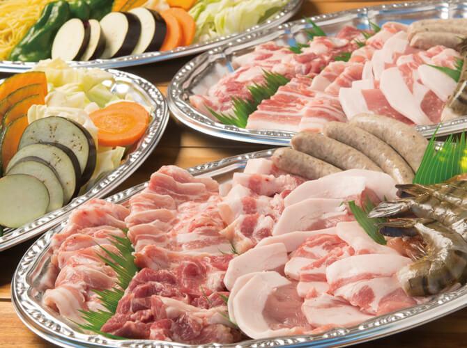 森岡さんちの豚食べ比べBBQプラン3,200円